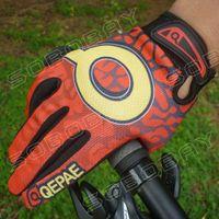 Wholesale Motocross Biking Gloves - Wholesale-New GEL Bike Bicycle Gloves Full Finger Motocross Riding Dirt Bike BMX Cycling Biking Gloves-Red
