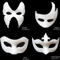 All'ingrosso-Novità DIY White Paper Unpainted Party Mask Varie donne veneziane Uomini maschere per il viso Fancy Dress Regalo di Halloween