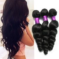 Wholesale virgin indian pcs - 4 Bundles Brazilian Loose Wave Virgin Hair Extensions, Unprocessed Virgin Brazilian Hair Bundles, 100g pcs Cheap Brazilian Hair Weave