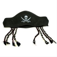 Wholesale Wacky Halloween - Wholesale-Halloween products feature pirates hat braid Eva cap wacky props free shipping