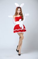 Wholesale Pink Sexy Bunny Costume - Christmas party costumes fun games uniforms Bunny Bunny costumes Christmas costumes themed figures stage wear dress