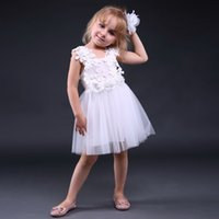 Wholesale retail wedding dress resale online - Pettigirl Retail Hot Fluffy Baby Girls Dress Sleeveless Floral Tulle Dresses For Wedding Party Kids Clothing Girl Cute Dress GD80905