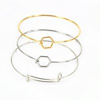 Wholesale Stainless Steel Beading Wire - 2017 Best Selling Silver Plated Stainless Steel Harmony Wiring Bangle for Beading Expandable Charms Bangles Metal Bracelets 20pcs lot