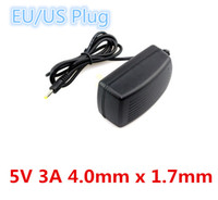 Wholesale Power Supply Prices - Factory Cheaper Price High Quality AC 100V-240V Converter Adapter DC 5V 3A Power Supply US EU plug 4.0mm x 1.7mm Wall Charger Adapter New