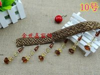 Wholesale Crystal Beaded Curtains Wholesale - Wholesale-New! High-end curtain lace   accessories accessories   jewelry beaded lace   small crystal ball 7 yuan   m