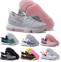 Wholesale Champagne Colour Shoes - 21 Colour Air Zoom KD 9 Mens Basketball Shoes KD9 Oreo Grey Wolf Kevin Durant 9s Men's Training Sports Sneakers US Size 7-12