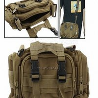 Wholesale Shoulder Straps Military - 211 Outdoor Waterproof Camera Bag Utility Nylon Military Tactical Yellow 3-Way Carrying (Waist   Shoulder   Hand) with Detachable Strap 1pcs