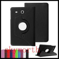 galaxie tab3 ledertasche großhandel-360 Rotierenden Ledertasche für Samsung Galaxy Tab S2 S A E 4 7 8 9.7 10-Zoll-Tablet-Tasche T810