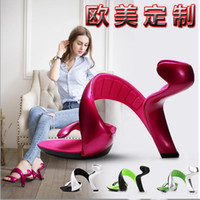 Wholesale Cheap Ladies High Heel Shoes - Novelty Women Sandals Without Bottom High Heels Summer Style Dress For Ladies Shoes Exaggerated Shoes For Women Cheap Sandal For Women