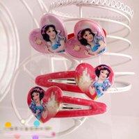 Wholesale Snow Headband - 6 Style Children's hairpin +headbands suit cartoon Snow White Hairpin baby girls Ornaments Hair Clips1set=2pcs headbands+2pcs barrettesC001