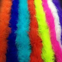 acessórios para vestido de penas venda por atacado-Atacado-2M Marabu Boa de Pena Para Fancy Dress Party Burlesque Boas Traje Acessório Frete grátis