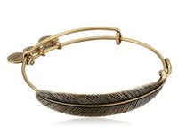 Wholesale Alex Ani Feather - feather Original alex and ani Pendant bangle Antique gold and silver Body scalable adjustable copper Meaning man women Welding bracelet