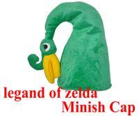 Wholesale Zelda Cap - Wholesale-5pcs lot The legend of zelda minish cap for christmas gift Comic and Animation anime cosplay hats green zelda cap