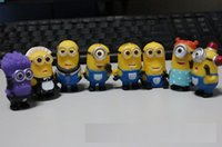 8pcs / set Délicieux Me 2 Minion Character Display Figures Kid Toy Cake Toppers Décor Cartoon Film Action PVC S2350