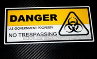 Wholesale Sticker Danger - Car stickers umbrella - danger radiation mark of reflective car stickers