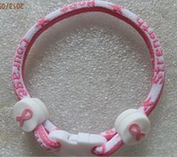 Wholesale Christmas Rope Bracelets - For Christmas cancer 2015 pink ribbon breast ribbon bracelet cancer awareness bracelet Breast cancer awareness bracelet Titanium bracelet