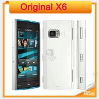 celular de celular desbloqueado venda por atacado-Original x6 desbloqueado nokia x6 8gb-16gb-32gb celular 5mp wi-fi gps 3g telefone móvel