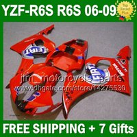 7gifts + Red FIAT Für YAMAHA YZFR6S 06-09 YZF-R6S 06 07 08 09 J9534 YZF600 YZF 600 YZF R6S Gloss Red FIAT 2006 2007 2008 2009 Fairing Kit
