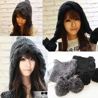 Wholesale Crochet Trapper Hat - Wholesale-New Fashion Women Korean Winter Warm Bomber hats with earflaps Crochet Knit Ski Beanie Wool Peaked Hat Cap