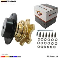 Wholesale Quick Release Steering Hubs - EPMAN -High Quality Steering Wheel Quick Release Hub Adapter Removable Snap Off Boss Kit (Gold, Black, Titanium, Blue, Red) EP-CA0011