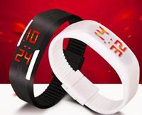 Wholesale Womens Watch Diver - Waterproof Touch Screen LED Bracelet Digital Watches For Men&Ladies&Child Clock Womens Wrist Watch Sports Wristwatch Saat