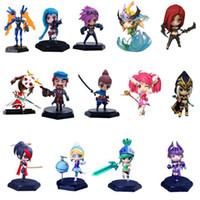 Wholesale Doll League Legends - League of Legends Doll Model Ornaments LOL PVC 15 CM 21 Designs Action Figure Collection Model Game Toy for Car Decor