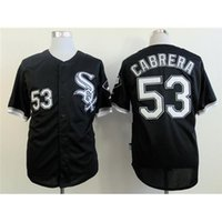 Wholesale Discount Black Uniforms - #53 White Sox Melky Cabrera Baseball Jersey 2015 New Collection Black Teams Baseball Apparel Fashion Sports Uniform Discount Mens Shirts
