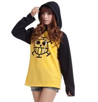 Wholesale Trafalgar Law S Coat - Wholesale-Cartoon ONE PIECE Trafalgar Law cosplay costume Casual women men hoodie coat jacket