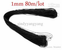 Wholesale Waxed Cotton Material Wholesale - JLB 1mm 80m sheaf Wholesale Fashion Jewelry Findings Black Waxed Cotton Cords fit Necklace Bracelet DIY Materials Accessories Free shipp