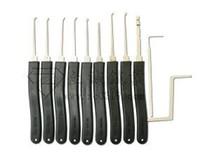 Wholesale Tubular Lock Key Set - 9 pieces pick lock tools Advanced Pick Set broken key tools Klom