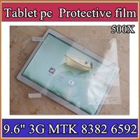 "Wholesale Mtk6589 Inch Screen - 500X Original Screen Protective Film Protector Guard for 9.6"" 9.6 inch MTK8382 MTK6589 MTK6592 Android Tablet PC 4-BH"