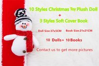 Wholesale Free DHL Hot Sell Style Christmas Elf Doll Plush toys Elves Xmas dolls and styles Soft Back Books on the shelf For Kids Christmas Gift