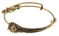 Wholesale Alex Ani Feather - New charm DIY bracelets for women Alex and Ani bracelet Peacock feathers Steel ring Valentine's day gifts SZ32