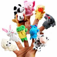 juguete de congelación al por mayor-Incluso mini dedo del animalito Juguete de peluche de juguete Marionetas de dedo Talking Props 10 grupo de animales Relleno Plus Animales Peluches Juguetes Regalos Congelados