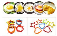 Wholesale fried egg rings online - Silicone Egg Pancake Ring Creative Non stick Pentagram Bear Shape Silicone Egg Mold for Cooking Breakfast Frying Pan Oven Kitchen