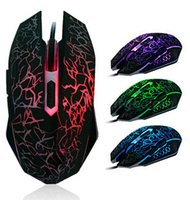 Wholesale gaming laptops - One mouse shows all colors DPI D buttons led back light mouse wired gaming mouse USB wired game mice for laptops desktop