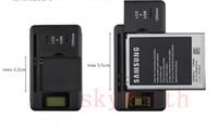 ingrosso caricatore domestico di ac per il telefono-Schermo LCD universale USB AC Telefono Batteria Li-ion Caricatore da viaggio per dock a parete di casa Samsung Galaxy S4 S5 bordo S6 Note 3 4 Nokia Cellphone