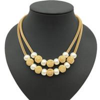 perles rondes de rubis achat en gros de-perle sur chaîne collier de perles conçoit maille chaîne perle et perles en filigrane cadeau de Noël de chaîne multicouche homard