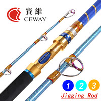Wholesale Carbon Fishing Jig Boat Rod High Powerful Jigging Rods Fish Tackle Equipments section m m m