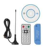 sintonizador de tv hdtv al por mayor-USB 2.0 Digital DVB-T SDR + DAB + FM HDTV sintonizador de TV Receptor Dongle Stick Antena con IR Control remoto RTL2832U + R820T2 al por mayor