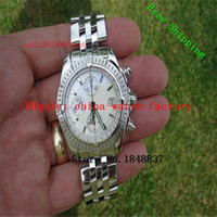 Wristwatches original wow - WOW Equipped with original box certificate top quality Luxury chronography MM Silver Dial Men s watch dress watches