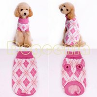 Wholesale Pretty Pet Dog Clothes - Wholesale-Pretty 2015 Fashion pet Dog Clothes Winter Sweater Lapel checked sweater Free Shipping