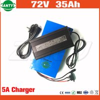 Wholesale Li Ion Bms - Lithium Battery 72v 35Ah 2800w Super Power Electric Bicycle Battery 72v with 50A BMS 5A Charger Li-ion Battery 72v Free Shipping