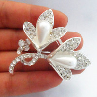 Wholesale Middle Eastern Dresses For Sale - New!!Brooches For Women Gift Elegant Clear Crystal Flower Hot Sale Bridal Bouquet Pins Bridesmaid Dress Costume Jewelry Accessories B925