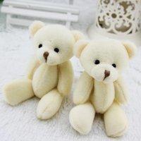 Wholesale Stuffed Animals Wedding Bears - 24pcs lot lovely Mini Teddy Bear plush toys gummy bears 12cm 4.8'' animal for Wedding peluches stuffed bicho ursinho de pelucia