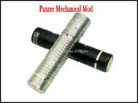 Wholesale Top Mechanical Electronic Cigarette - Stainless Steel Panzer Mechanical MOD Black Mech Mod Electronic Cigarette Top Mech Mechanical Panzer MOD Replace as Stingray Mod Nemesis