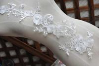 Wholesale Wedding Lace Motifs - Appliques Ivory Sewing Floral Flower Motif Venise Lace Applique, Wedding Bridal Embroidery Lace patch - 10pcs Lot - Free Shipping