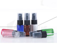 Wholesale Cap Spray - New Perfume Atomizer Sprayer Spray Bottles Travel Bottle 10ML Cosmetic Bottles   Diy Lotion 5 colors with black cap