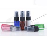 yeni parfümlü atomizer şişeleri toptan satış-Yeni Parfüm Atomizer Püskürtme Püskürtme Şişeleri Seyahat Şişe 10 ML Kozmetik Şişeler / Diy ile 5 renkler siyah kap