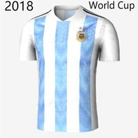 31246c4184c Newest thai quality 2018 Argentina World Cup adult Soccer Jersey MESSI DI  MARIA AGUERO KOMPANY DYBALA Home Blue men football shirts